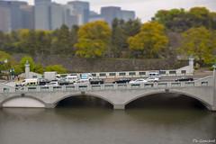 Imperial palace bridge of Tokyo (Philippe Goachet) Tags: city bridge japan tokyo shift palace imperial pont palais tilt japon ville