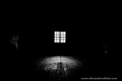 Darkness And Light (A.Nilssen Photography) Tags: light camp bw white black konzentrationslager darkness prison theresienstadt kl mala kz lager concentrationcamp gestapo terezin smallfortress pevnost