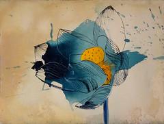DSC09511 (scott_waterman) Tags: blue ink watercolor painting paper lotus gouache bluehue lotusflower scottwaterman