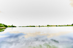 Neckar bei Ladenburg Aquarell (rainerneumann831) Tags: landschaft neckar aquarell berbelichtet ladenburg unschrfe