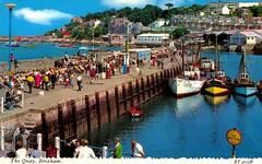 The Quay, Brixham (trainsandstuff) Tags: vintage harbour postcard quay bayview pontins brixham holidaycamp
