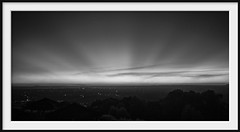 infrared dusk (Andrew C Wallace) Tags: blackandwhite bw panorama ir dusk australia melbourne olympus victoria infrared rays omd mountdandenong m43 skyhigh em5 microfourthirds