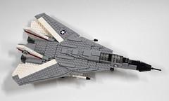 Grumman F-14A Tomcat update (2) (Dornbi) Tags: black us lego f14 aircraft navy aces tomcat grumman f14a