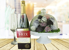 Champagne, Choclate & Chocolate Dipped Strawberries In a Dome (Hazelton's Gift Baskets) Tags: wood light brown abstract blur coffee shop retail vintage table wooden yummy cafe shadows counter display bokeh chocolate top background interior space empty room decoration perspective strawberries style blurred surface retro shelf gourmet business blank presentation product luxury template tabletop mock advertise dipped