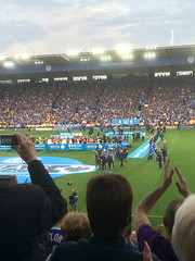 Ranieri to stage... Leicester City celebration (unclechristo) Tags: chrisconway leicestercity kingpowerstadium marcusjoseph