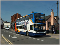 18199 on the 9 (Jason 87030) Tags: camera sun menu lunch town pub flickr shot rugby tag may picture 9 sunny lunchtime fave 400 views roadside dennis alpha amateur clifton bizarre alx stagecoach thesquirrel trident 2016 ilce 18199 kn54zxp sonya6000