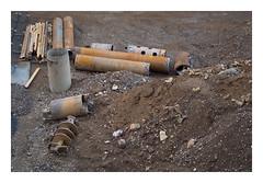 Below the Rust Belt (Goran Patlejch) Tags: brown rock work construction rust prague stones steel prag praha praga monochromatic tools dirt drill drilling patlejch gntx goenetix patlejh