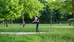 Sunny Day in the Park (Buyruk Alparslan) Tags: park sunset baby green turkey evening play happiness sunny istanbul hugs sel50f18