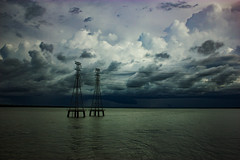 The Storm is comming... (betadecay2000) Tags: road street bridge clouds island outdoor strasse himmel wolke wolken australia darwin thunderstorm australien northern brcke gewitter strom thunder channel territory australie thunderstorms sturm austral strase stroms gewitterwolken