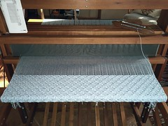 Ben's Blanket on loom (spunsilver) Tags: handwoven babyblanket