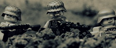 Holding the Line - Operation Barbarossa (Brick Police) Tags: army lego military wwii worldwarii german ww2 minifig operation barbarossa mg42