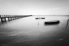 Lake art... (Minieri Nicola) Tags: lake art beach beautiful landscape barca pontile longexposition blackewhite