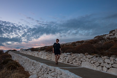 On our way to the church of Panagia (Markus Jansson) Tags: sunset church walking greece chora folegandros panagia