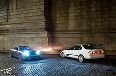 Night Run Through Dumbo (TRphotoarchive) Tags: honda mazda rx7 gt brooklyn trphotomedia sony sonya7 nyc newyork sedan voltex