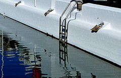 Argollas recin pintadas (camus agp) Tags: espaa panasonic marbella reflejos puertos argollas fz150