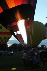 Balloon fest (Tricia Lynne) Tags: fire dusk flames hotairballoon balloonfest