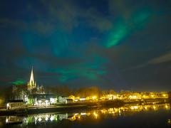 Another take of Nidarosdomen and the Aurora (Duong_Nguyen78) Tags: olympus trondheim northernlights auroraborealis omd 12mm20