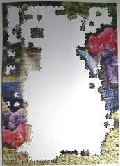 Ktzchen im Garten (Greg Cuddiford) (Leonisha) Tags: puzzle unfinished jigsawpuzzle