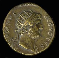 Ancient Rome. Emperor Hadrian coin, 1st century AD (mike catalonian) Tags: coin hadrian emperor ancientrome
