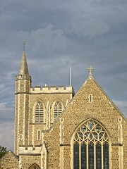 winchester - england (Greenes Music) Tags: clouds catholic gloaming