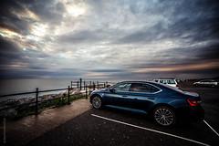 Superb Skoda Superb L&K (JennTurner) Tags: sky water car clouds canon reflections evening kent superb coastal motor lk skoda 6d reculver samyang