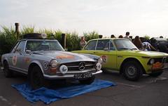 1967 - Mercedes 250 SL & 1973 - BMW 2002 TII (Jasonito) Tags: paris classic car russia rally olympus retro oldtimer motor  omsk challenge peking 6th omd the 2016    em5   parispeking beijingparis   panasonic14140mmf4058 omdem5