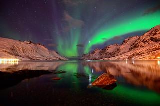 Aurora,Jupiter and Venus in Ersfjordbotn