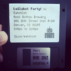 Sweet retro invite for @Lullabot #DrupalCon party