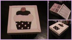 Caixa Cupcake (Caixa de Regalos) Tags: artesanato mdf caixadecorada patchworkembutido
