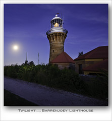 Twilight Barrenjoey Lighthouse (Peter & Olga) Tags: moon lighthouse twilight april 2012 barrenjoey d700