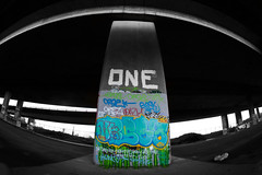 Urban Project For College (Zakk G Photography) Tags: bridge urban blackwhite colours lock grunge gritty nike fisheye abandon derelict spraycan 2470f28 oneupcrew flickraward canon7d