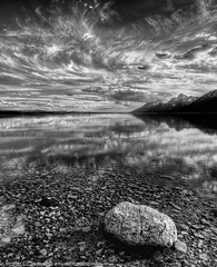 Daydreaming (Tom Lussier Photography) Tags: sunset usa mountain water clouds reflections landscape nationalpark nikon rockymountain rockymountains wyoming moran cloudscapes grandtetonnationalpark blackwhitephotos grandtetonnationalparkwyoming tomlussier