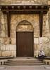 Man Reading Near An Old Door, Damascus, Syria (Eric Lafforgue) Tags: door color colour vertical syria oldtown damascus siria levant syrien syrie sirja 080 traveldestinations suriye シリア سورية syrië סוריה síria szíria սիրիա westernasia 시리아 敘利亞 συρία suriah sirija сирија cиpия סיריע soría