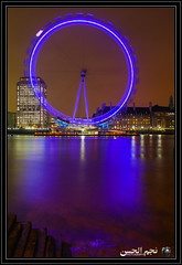 London Eye and River Thames (Najmul Hassan) Tags: life bridge light urban west berlin london eye dutch amsterdam wall thames night river germany point photography boat check long exposure neon united kingdom adventure charlie netherland k2 hassan explorers hunza minister gilgit experts the karakorum danyore skardu askole meusum najmul fairymeadows satpara photograpphy duetch