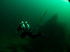 _SJS0069 (Stig Sarre) Tags: norway diving olympus dome rebreather mandal inon uwl100 epl3 28m67 ptep05l