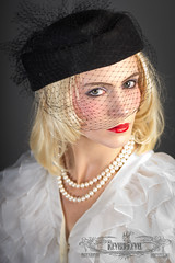IMG_9682 (ReverieRevel) Tags: blackandwhite hat fashion 1930s retro operagloves 1930smakeup retromakeup