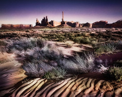 Dunes at Monument Valley (Explored) (D'ArcyG) Tags: arizona mountains southwest west utah sand rocks explore monumentvalley alwaysexc