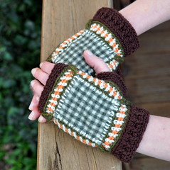 Flanel and crochet mitts (Kiwi Little Things) Tags: