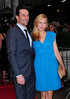Jon Hamm and Jennifer Westfeldt at the screening of 'To Rome With Love at the Paris Theatre New York City