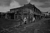 Meghla Akash ( cloudy Bangladesh ) (Shabbir Ferdous) Tags: road street old sky people bw white black building weather grey town photographer cloudy perspective victorian culture streetphotography monsoon tradition dinajpur bangladeshi aakash akash travelphotography meghla ef1635mm28liiusm shabbirferdouscom shabbrferdous canoneos1dmarkvi