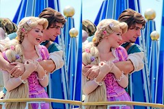 Rapunzel and Flynn Rider (abelle2) Tags: princess prince disney parade disneyworld wdw waltdisneyworld rapunzel magickingdom flynn tangled disneyprincess disneyparade disneyprince celebrateadreamcometrueparade celebrateadreamcometrue flynnrider princessrapunzel