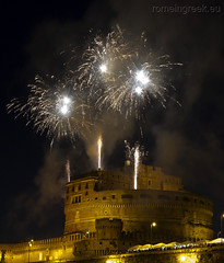 "Castel Sant'Angelo, fuochi d'artificio • <a style=""font-size:0.8em;"" href=""http://www.flickr.com/photos/89679026@N00/7471681746/"" target=""_blank"">View on Flickr</a>"