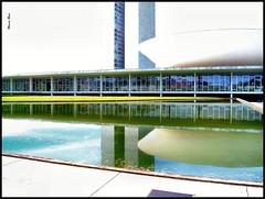 PICT0920-1 - Reflexos do Congresso (Marcia Rosa ()) Tags: brazil reflection building water gua braslia arquitetura brasil architecture reflexions nacional reflexo congresso oscarniemeyer marciarosa