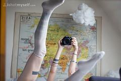 Lesnuages (Dwam) Tags: clouds self mirror map girly nuage ism selfshot ishotmyself dwam hightigh