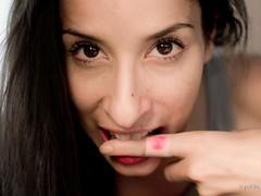 245/365 Bite Me! (pukilin) Tags: portrait selfportrait color 35mm myself blood eyes cut retrato finger teeth yo ojos bite 365 autorretrato bandaid dedo sangre project365 tirita nikond3100
