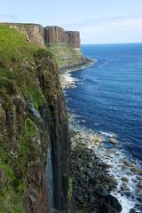 Kilt Rock and waterfall (tadzyla) Tags: ocean blue sea skye rock coast scotland waterfall rocks kilt stones sony mm 1855 isle nex