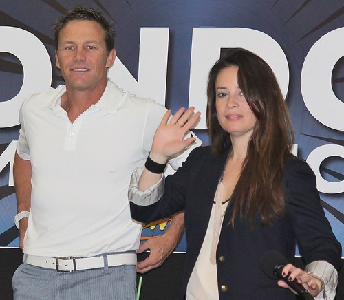 Holly Marie Combs and brian krause