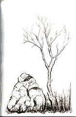 Chinese brush painting in Stillman & Birn Alpha Sketchbook (inkophile) Tags: chinesebrushpainting stillmanbirn