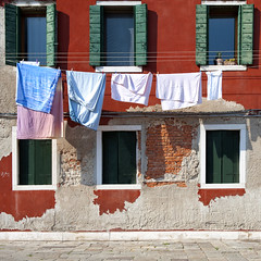 """Rosso Veneziano"" (helmet13) Tags: windows house building colors mediterranean raw front laundry shutter clothesline studies 100faves venetianred peaceaward d700 heartaward world100f platinumpeaceaward worldpeacehalloffame"