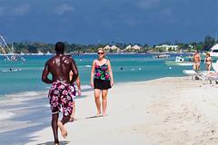 Happy Hour (koolandgang) Tags: blackwhite seaside sand couple view turquoise jamaica sweat negrilbeach